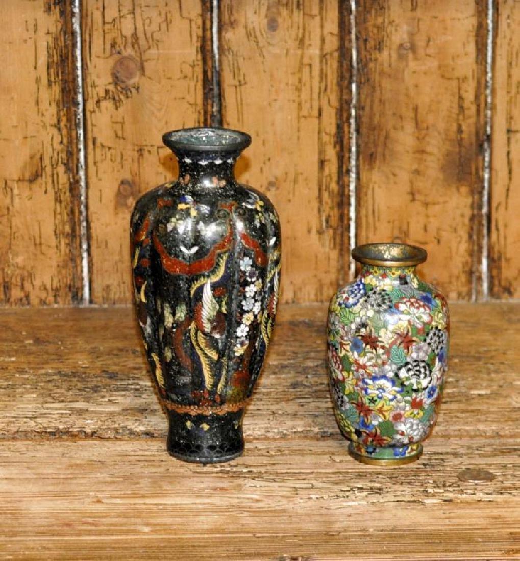 Two Japanese Cloisonne Vases - 2