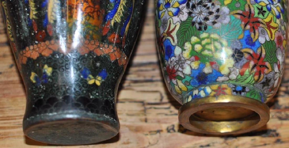 Two Japanese Cloisonne Vases - 5