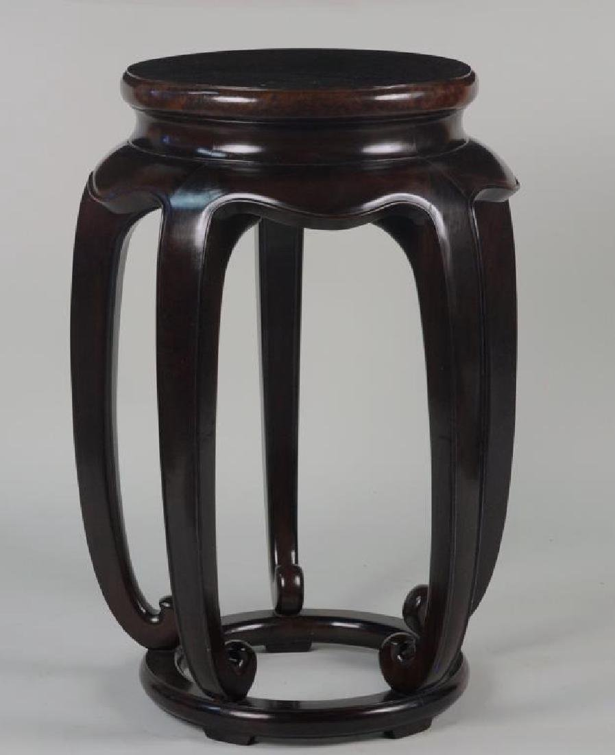 Pair Of Asian Contemporary Burlwood Stands - 2