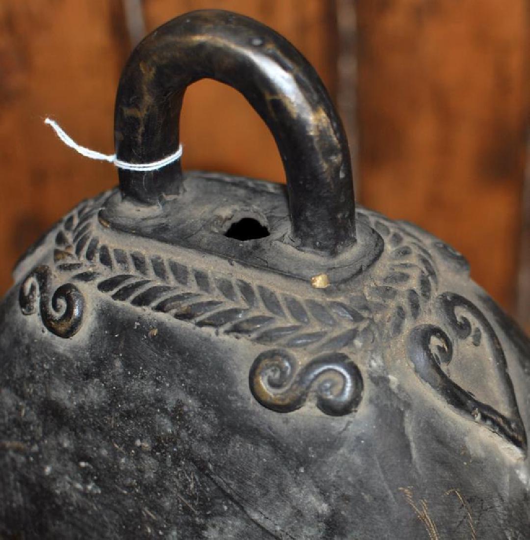 Thai Bronze Temple Bell, Elephant Motif - 5