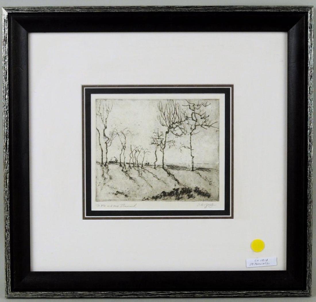 """Shanqing Zeng Asian, B. 1932, """"Trees"""" - 3"""