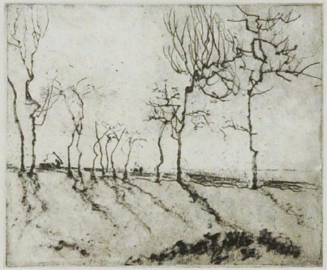 """Shanqing Zeng Asian, B. 1932, """"Trees"""" - 4"""