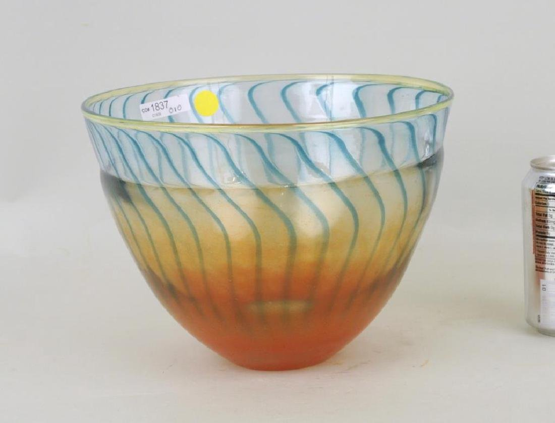 Modern Three Color Glass Bowl