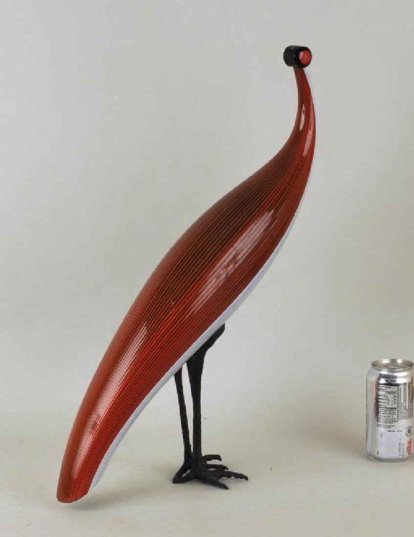 Mario Ticco-Pavone Murano Glass & Metal Bird - 2
