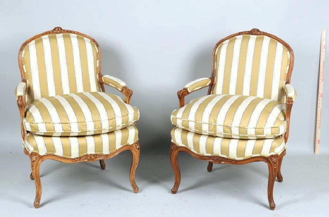 Pair Louis XV Style Fauteuils