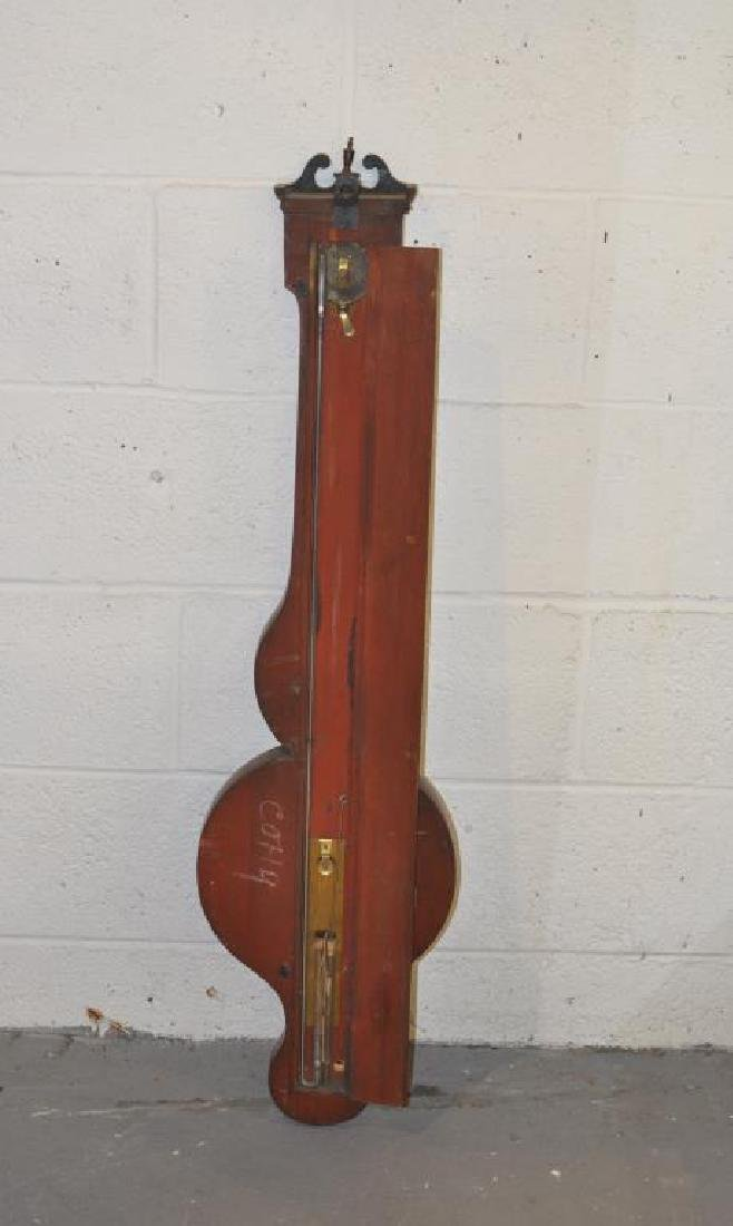 English Inlaid Mahogany Banjo Barometer - 2