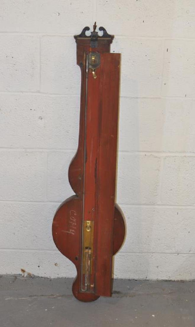 English Inlaid Mahogany Banjo Barometer - 3