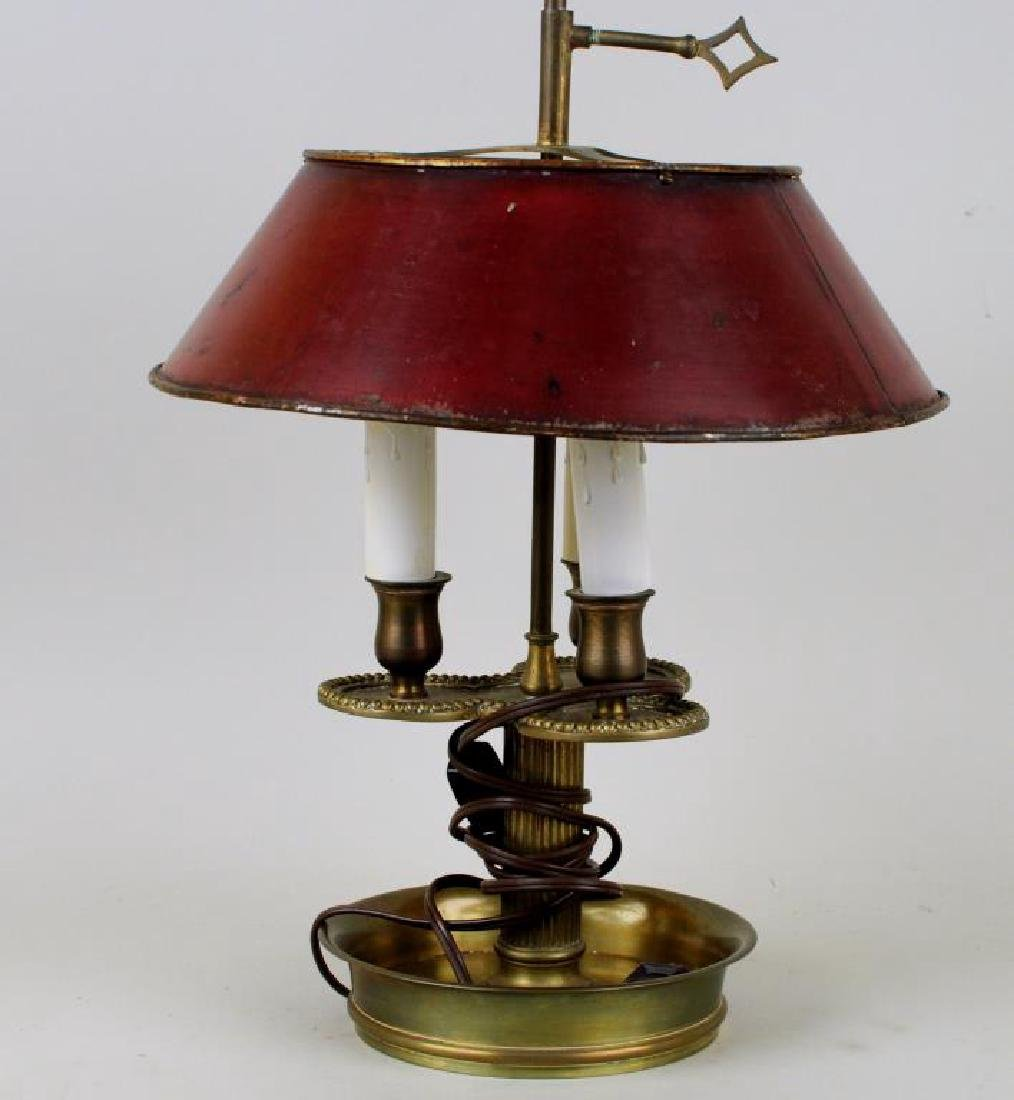 French Brass Bouiliotte Lamp - 4