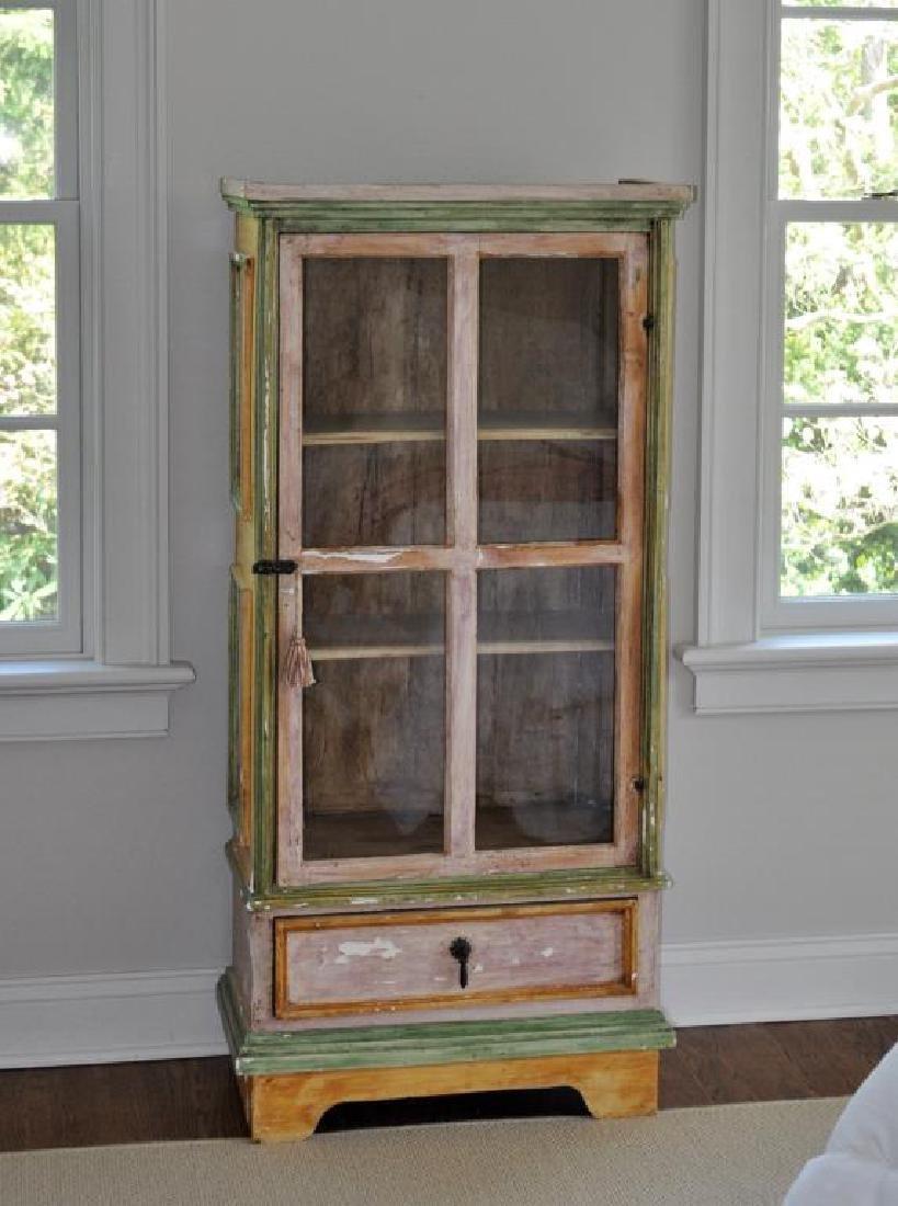 Swedish Painted Display Cabinet