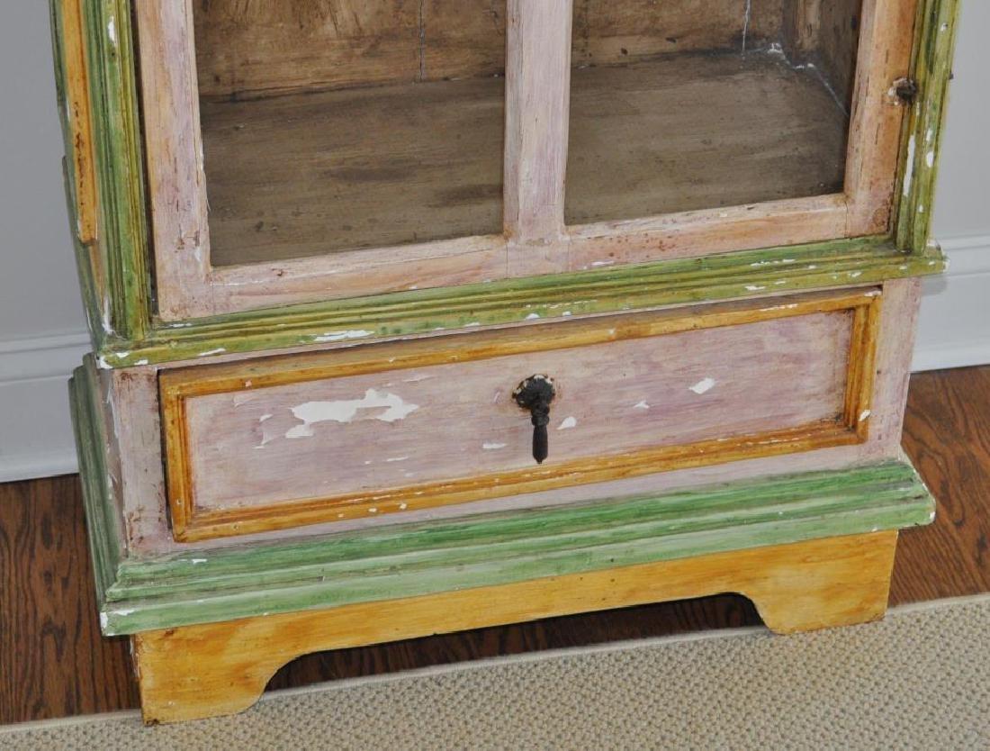 Swedish Painted Display Cabinet - 5
