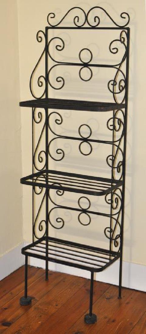Small Wrought Iron Baker's Rack