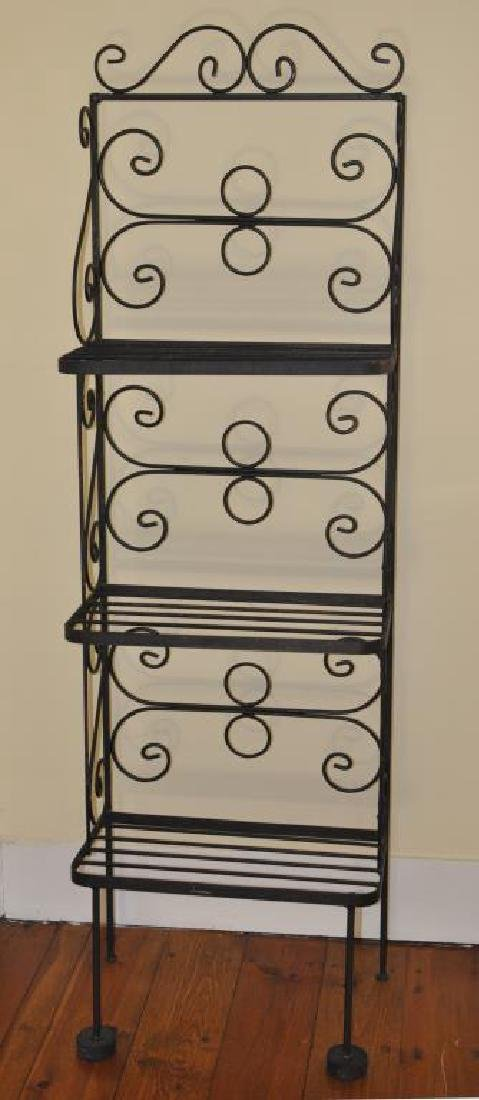Small Wrought Iron Baker's Rack - 2