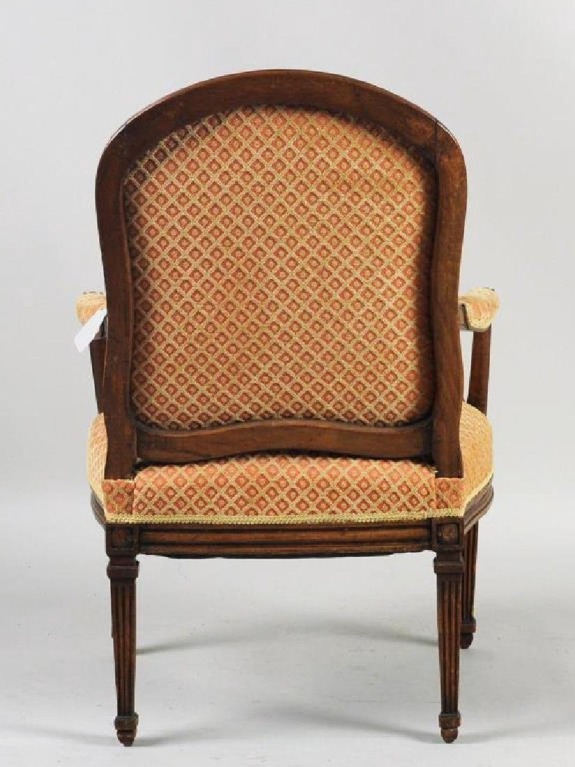 English Open Arm Chair, French Taste - 2