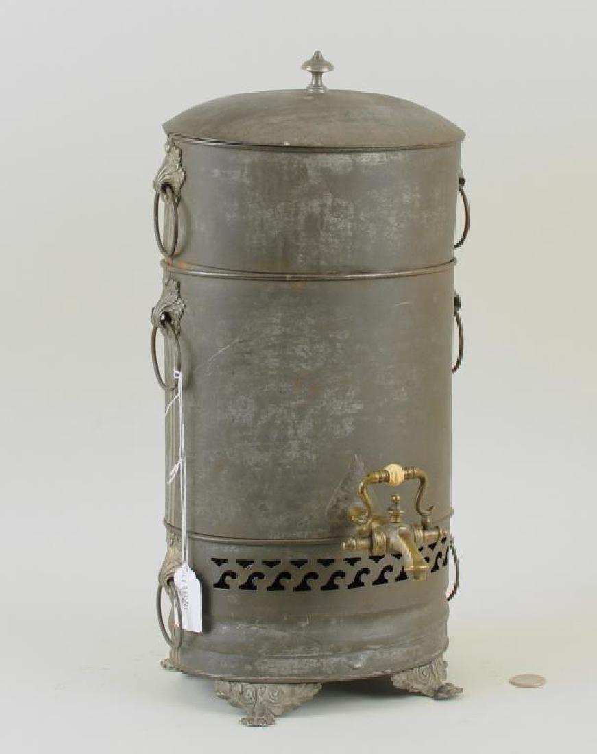 Rare Tole Water Urn/Steamer, 19th C.