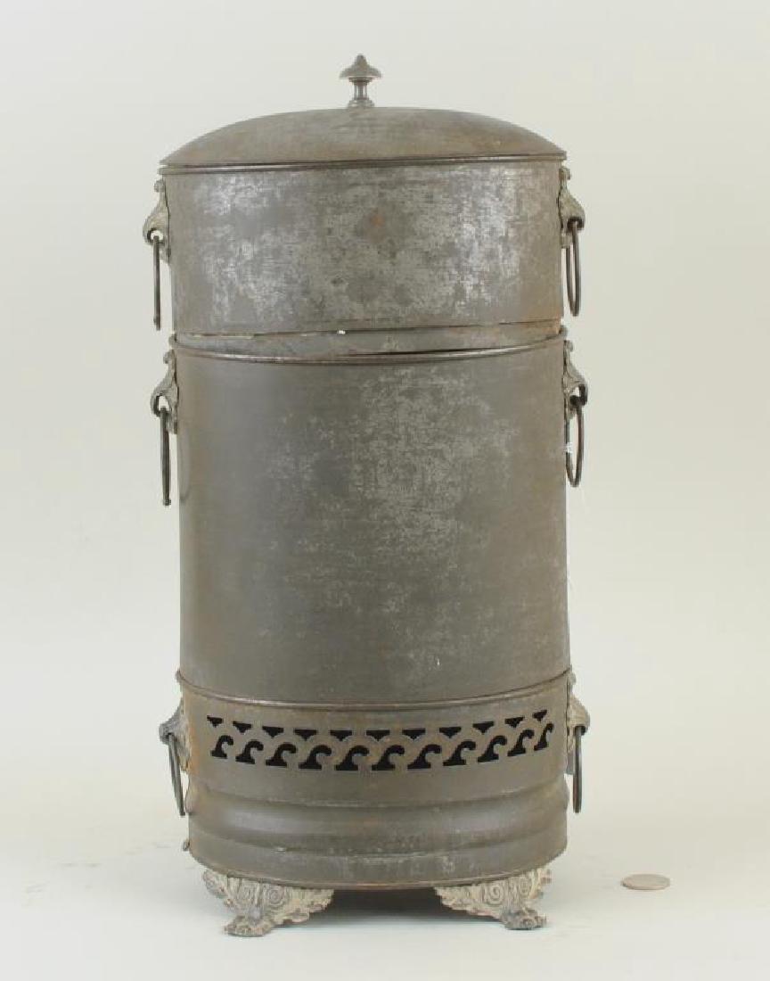 Rare Tole Water Urn/Steamer, 19th C. - 2