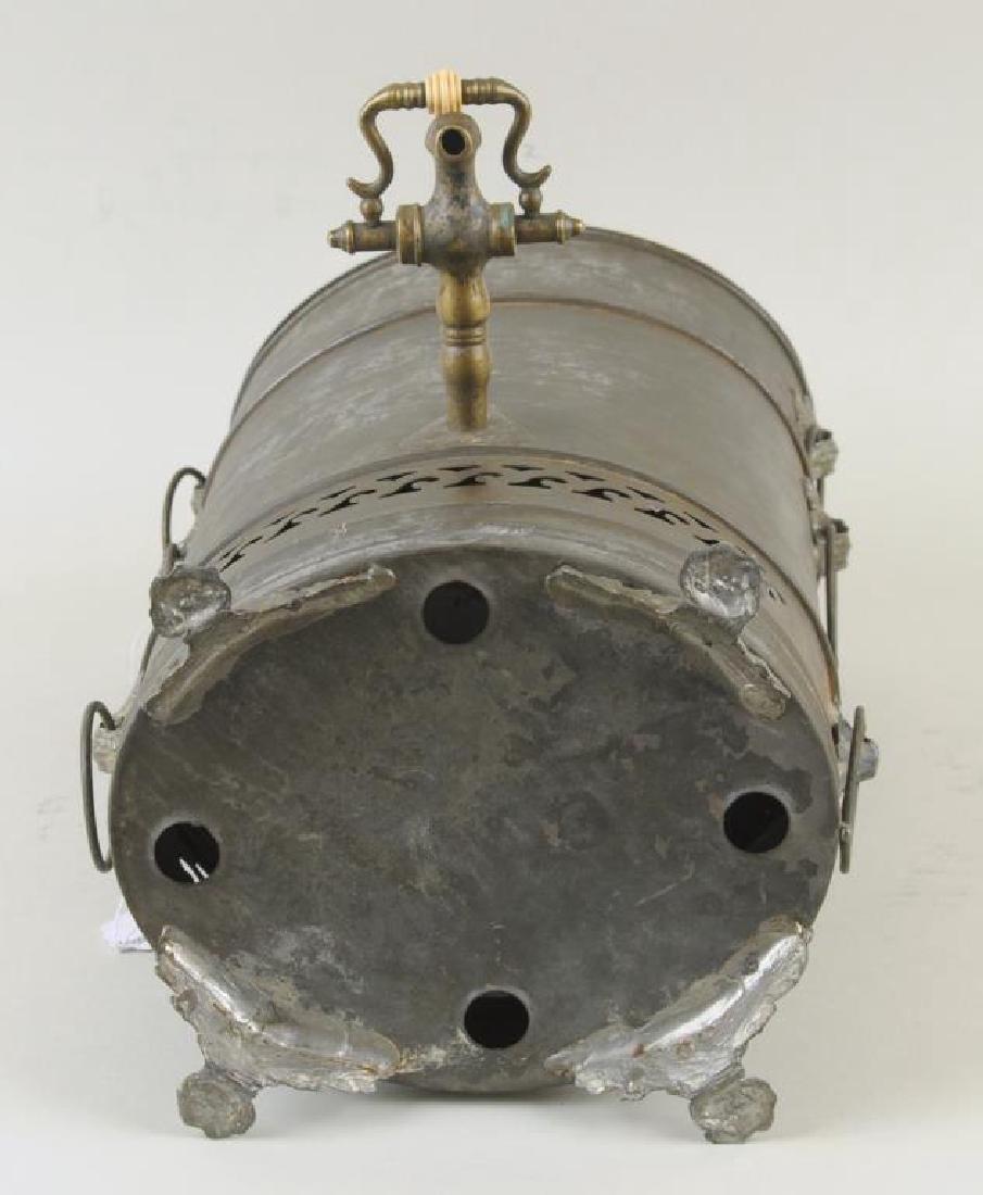 Rare Tole Water Urn/Steamer, 19th C. - 3
