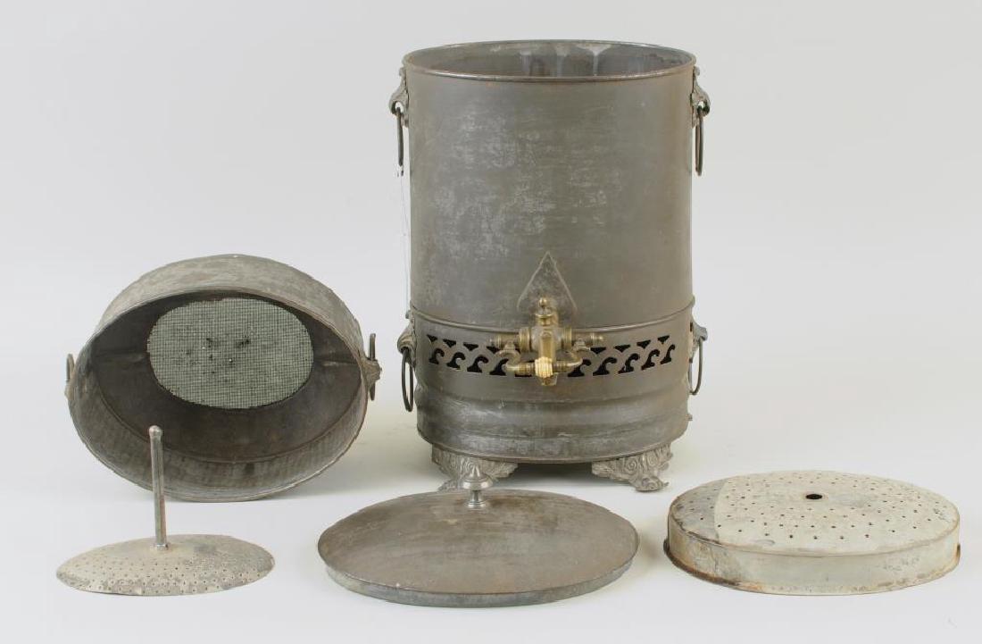 Rare Tole Water Urn/Steamer, 19th C. - 4