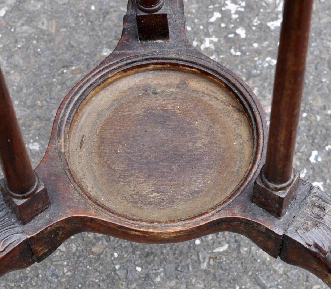 George III Carved Mahogany Wig Stand - 6