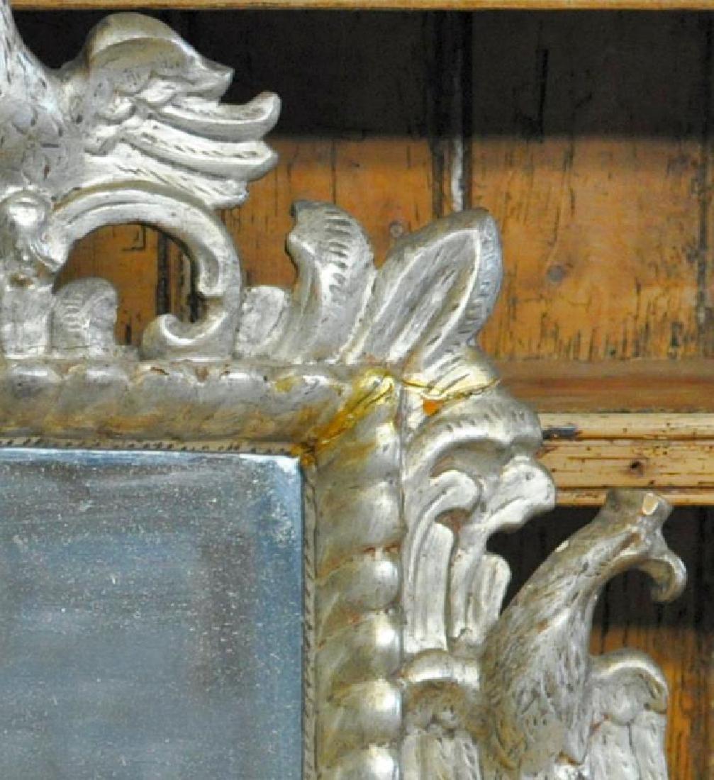 Austrian Carved Silver Gilt Mirror. - 2