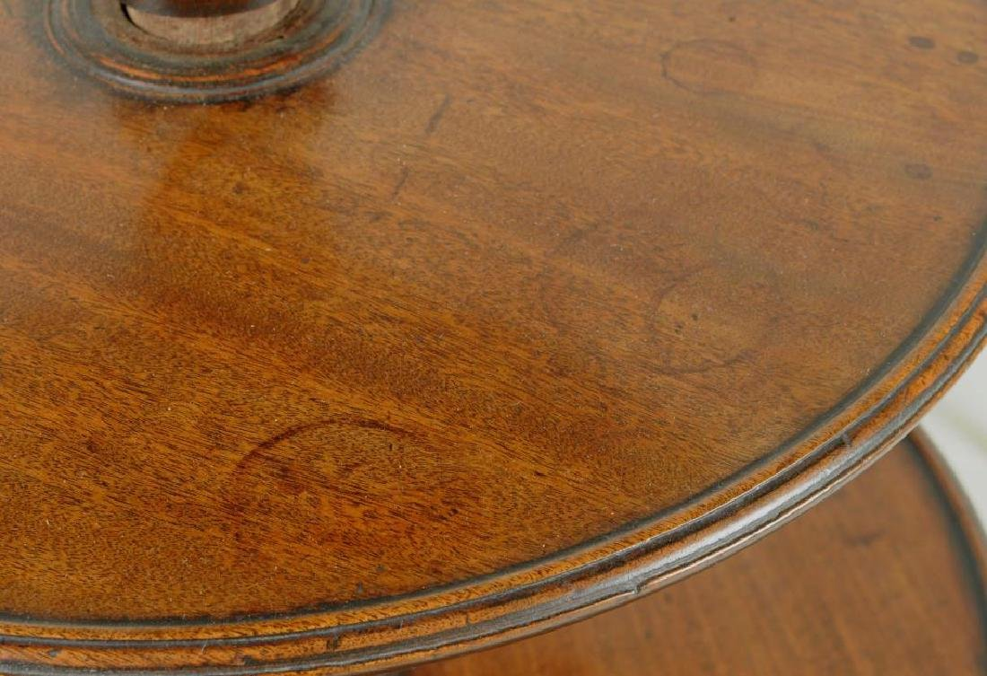 George III Carved Mahogany Three Tier Dumb Waiter - 6