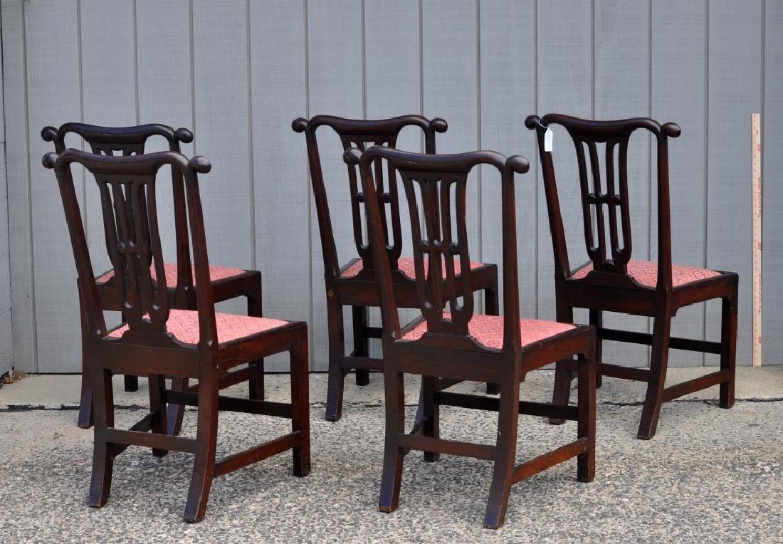 Set Five Georgian Mahogany Dining Chairs - 2