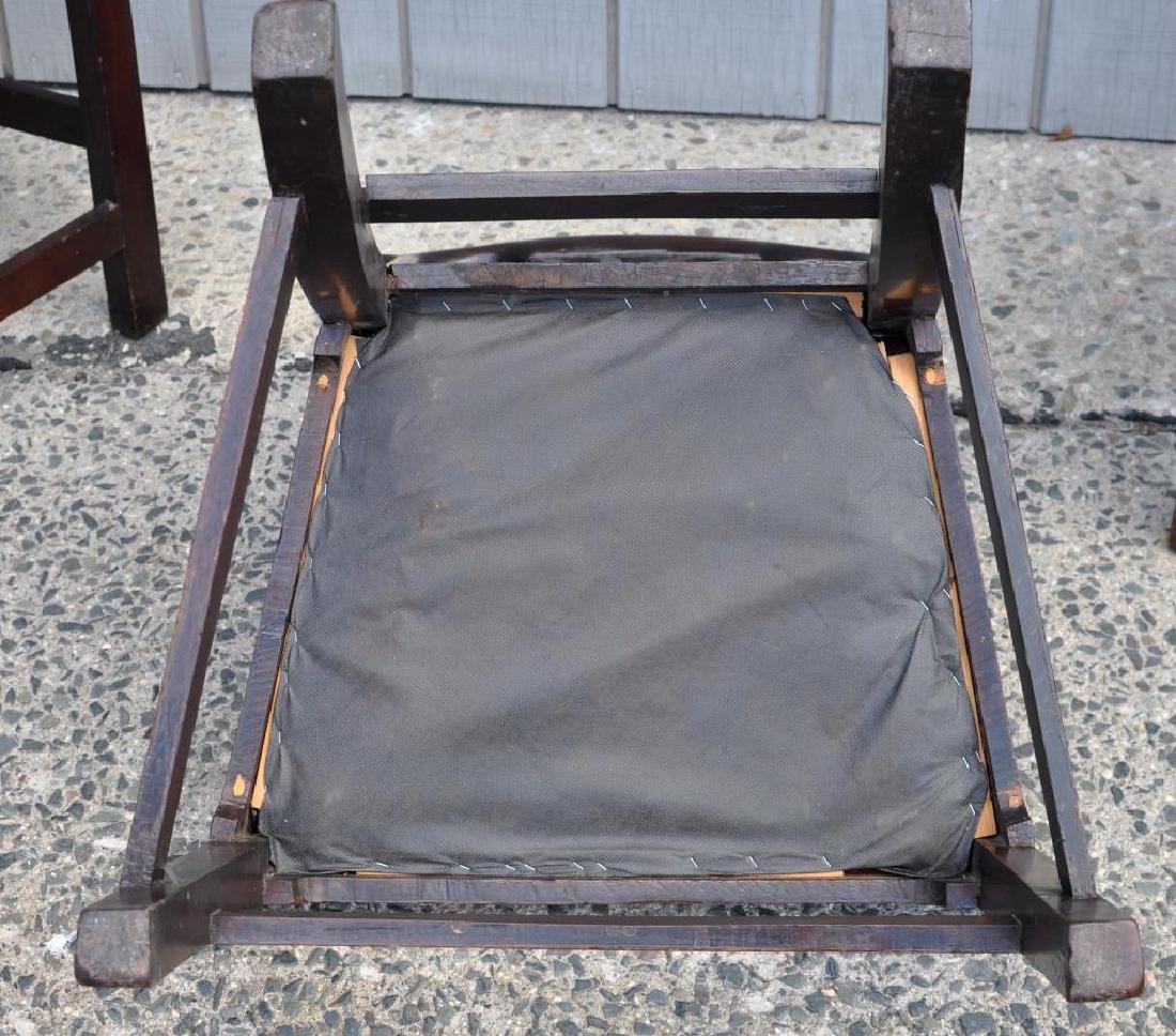 Set Five Georgian Mahogany Dining Chairs - 3