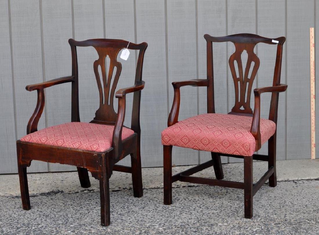 Set Five Georgian Mahogany Dining Chairs - 4