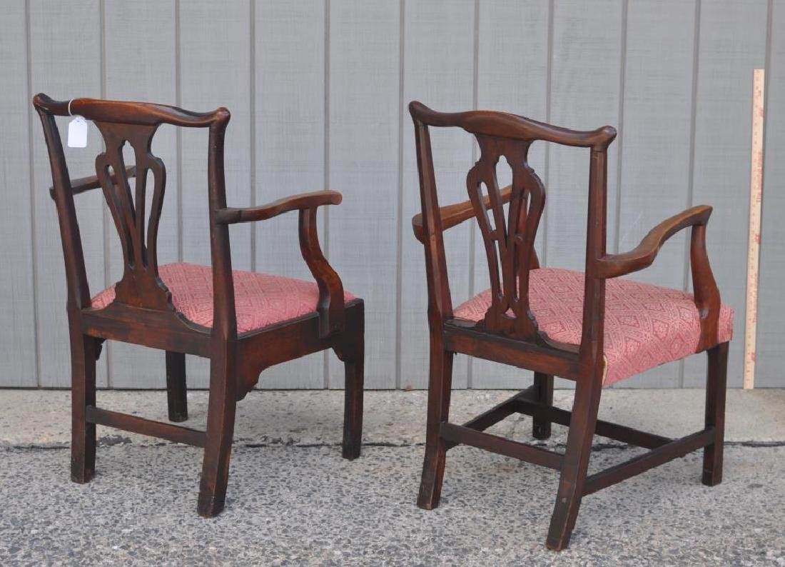 Set Five Georgian Mahogany Dining Chairs - 5
