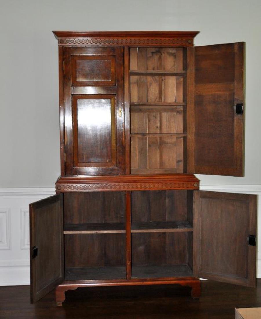 Georgian Style Figured Walnut Linen Cabinet - 2
