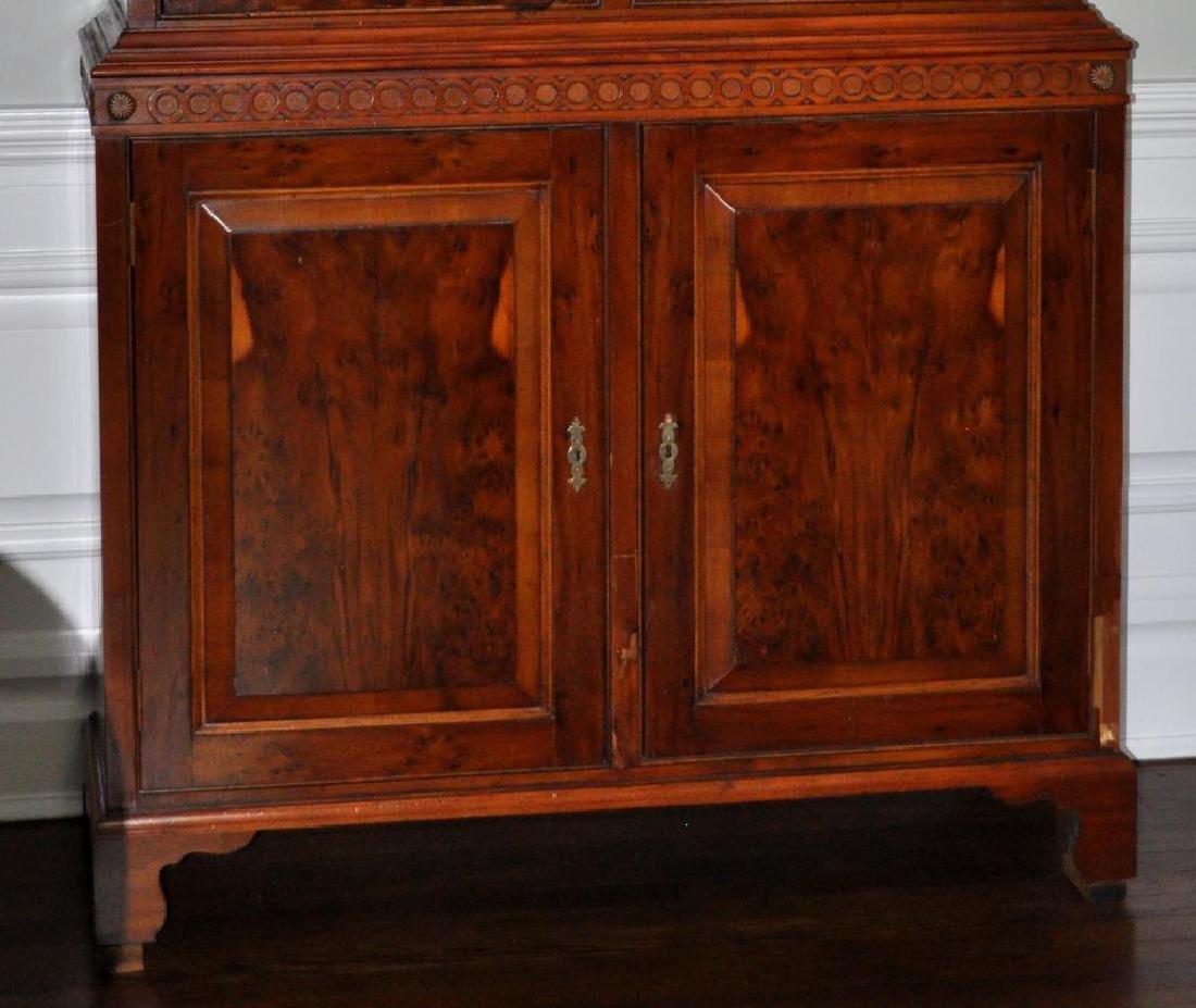 Georgian Style Figured Walnut Linen Cabinet - 4