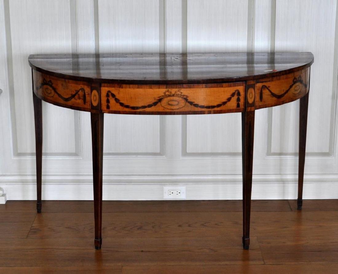 George III Inlaid Satinwood Console Table