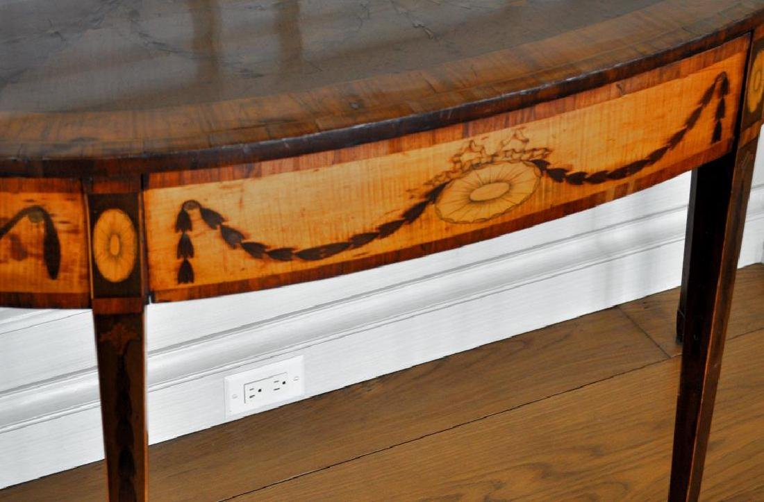 George III Inlaid Satinwood Console Table - 5