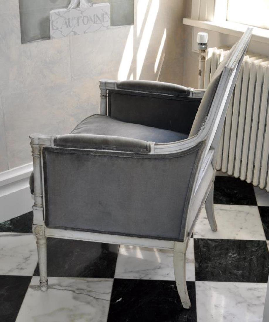 French Directoire Style Painted Bergere Chair - 2