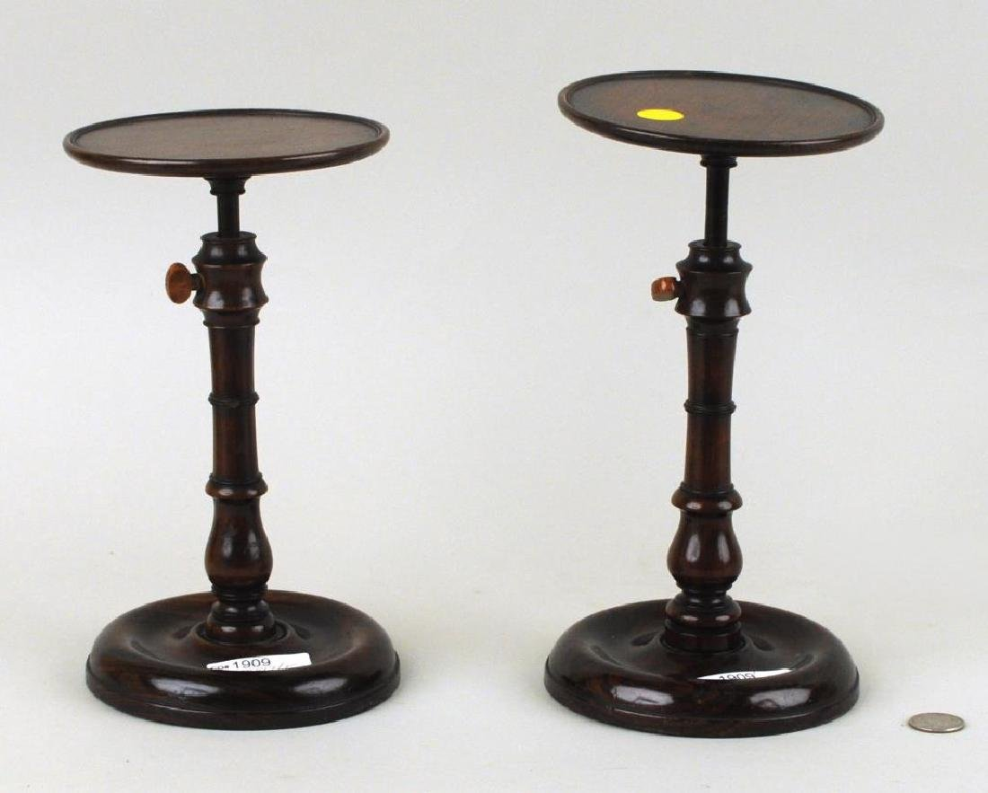 Two George III Mahogany Wig Stands