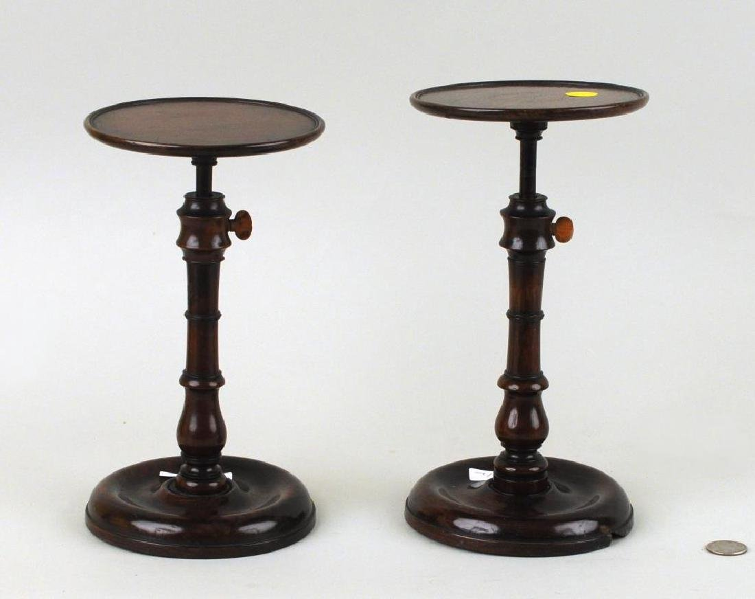 Two George III Mahogany Wig Stands - 2