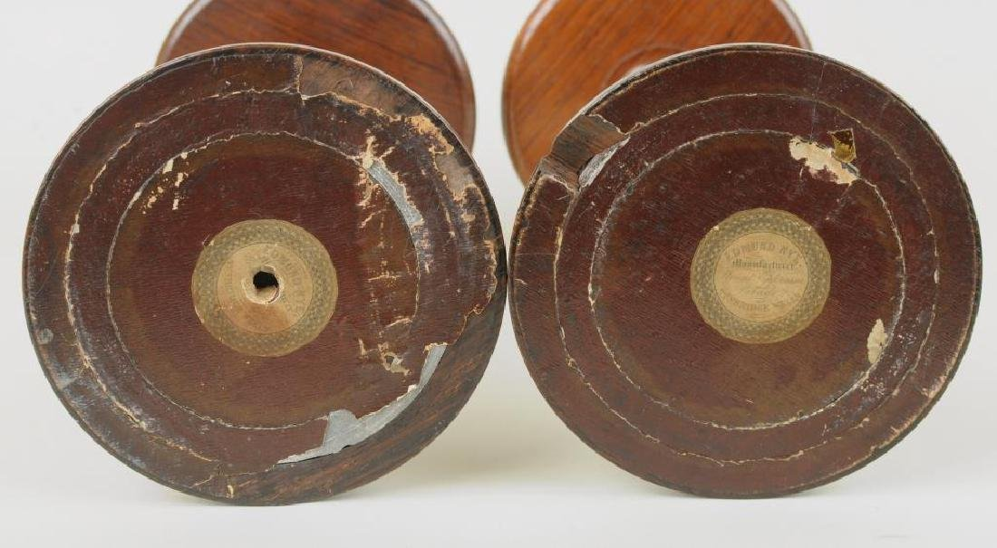 Two George III Mahogany Wig Stands - 3