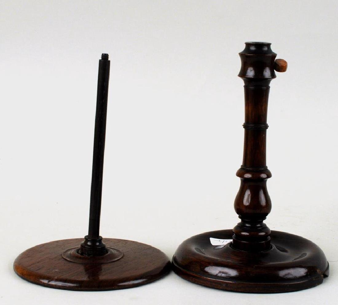 Two George III Mahogany Wig Stands - 7