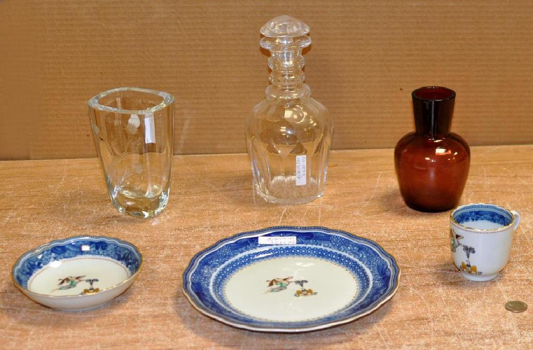 Group of Porcelain and Glass Items