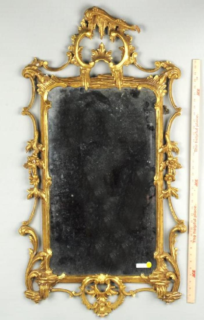 Continental Carved Gilded Rococo Mirror