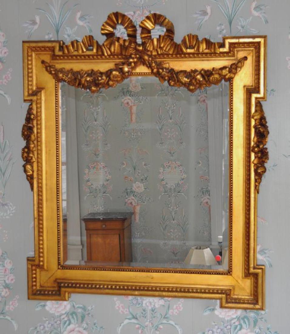 French Louis LXVI Giltwood Mirror