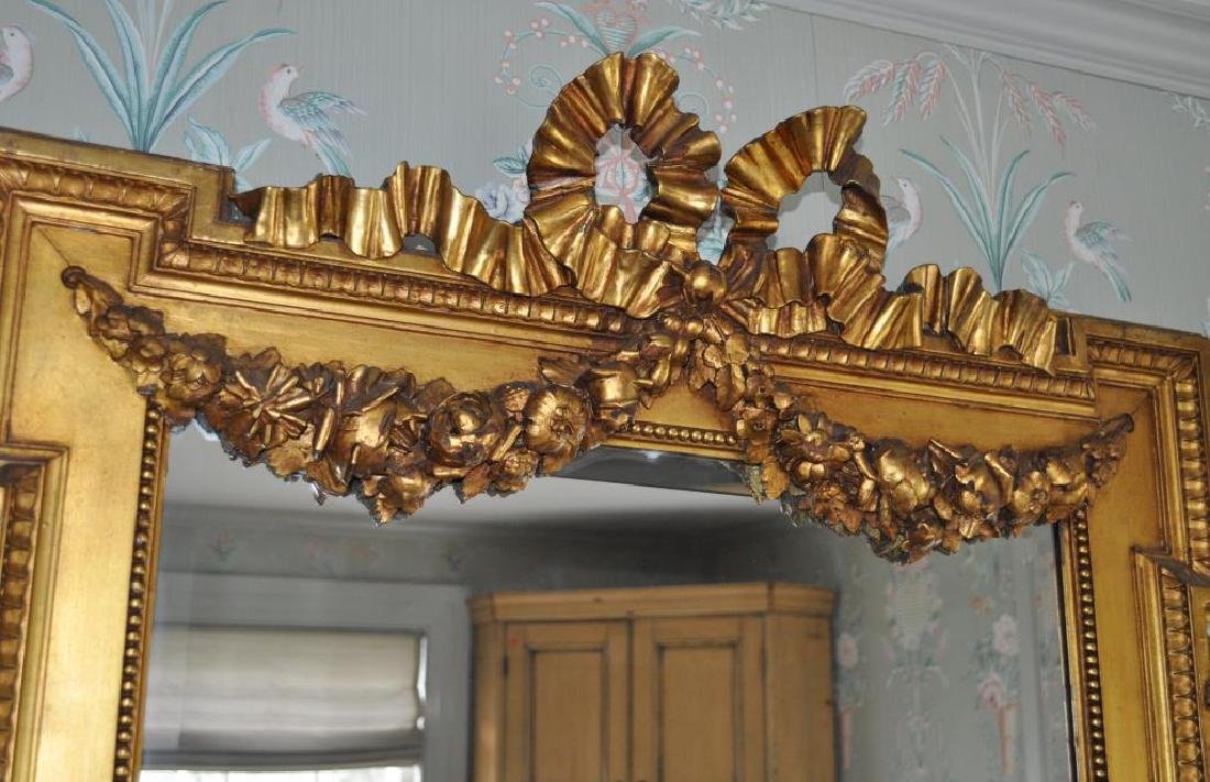 French Louis LXVI Giltwood Mirror - 3