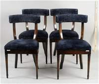 Set Four Continental Side Chairs