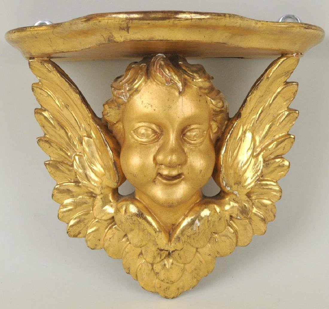 Group Four Putti Decorated Wall Brackets - 4