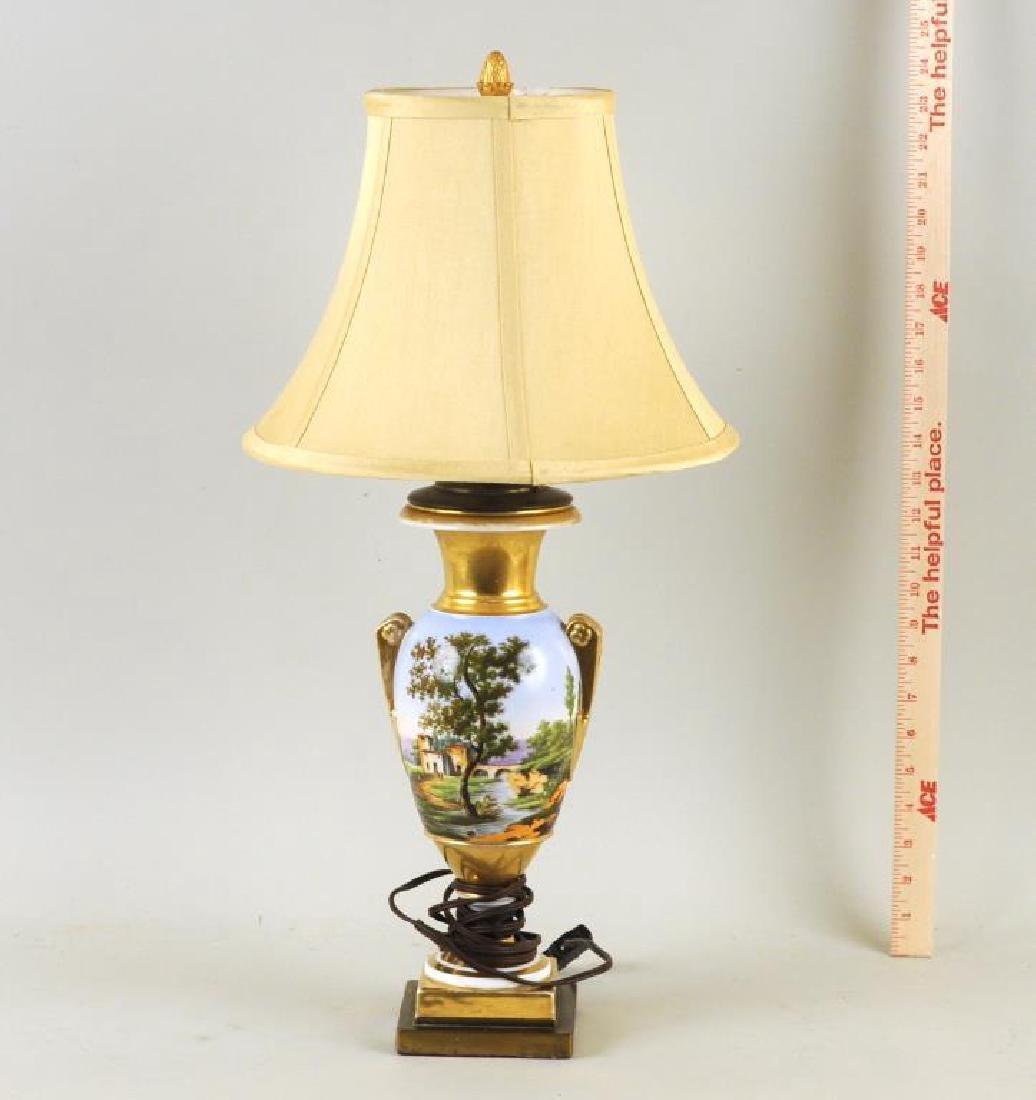 Old Paris Porcelain Urn Table Lamp