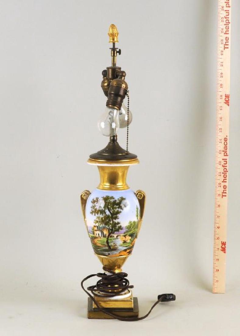 Old Paris Porcelain Urn Table Lamp - 2