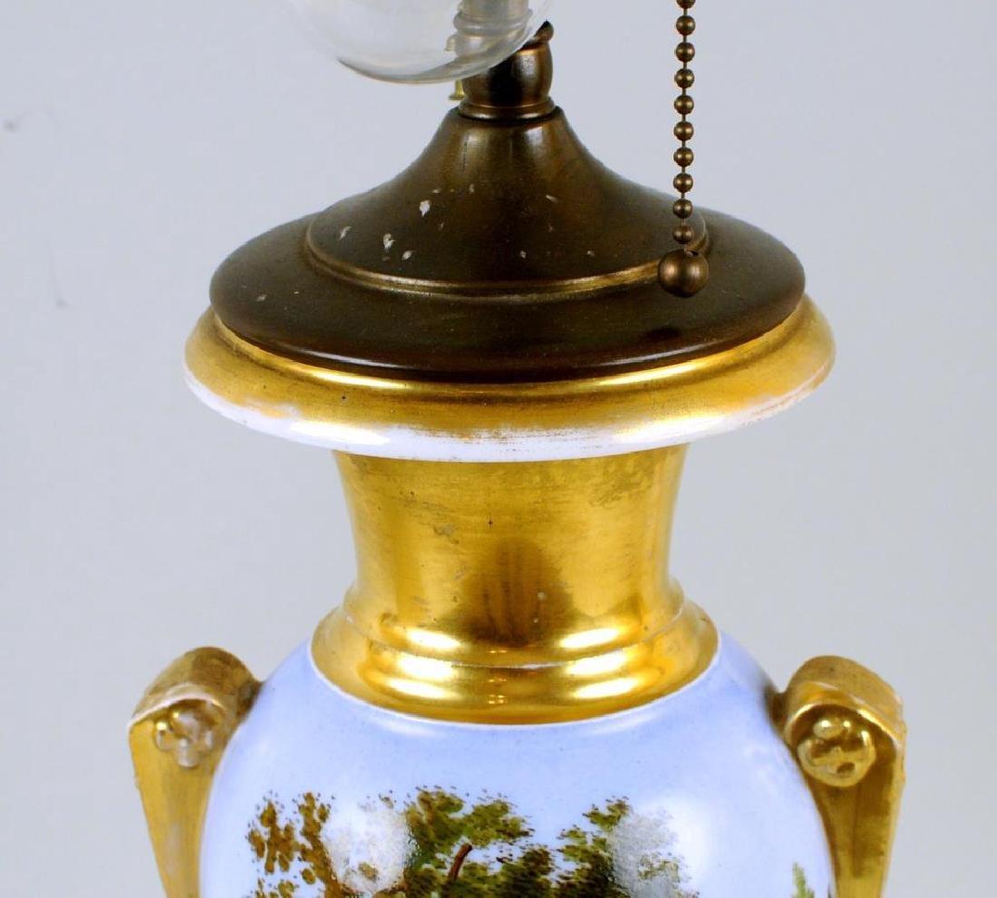 Old Paris Porcelain Urn Table Lamp - 6
