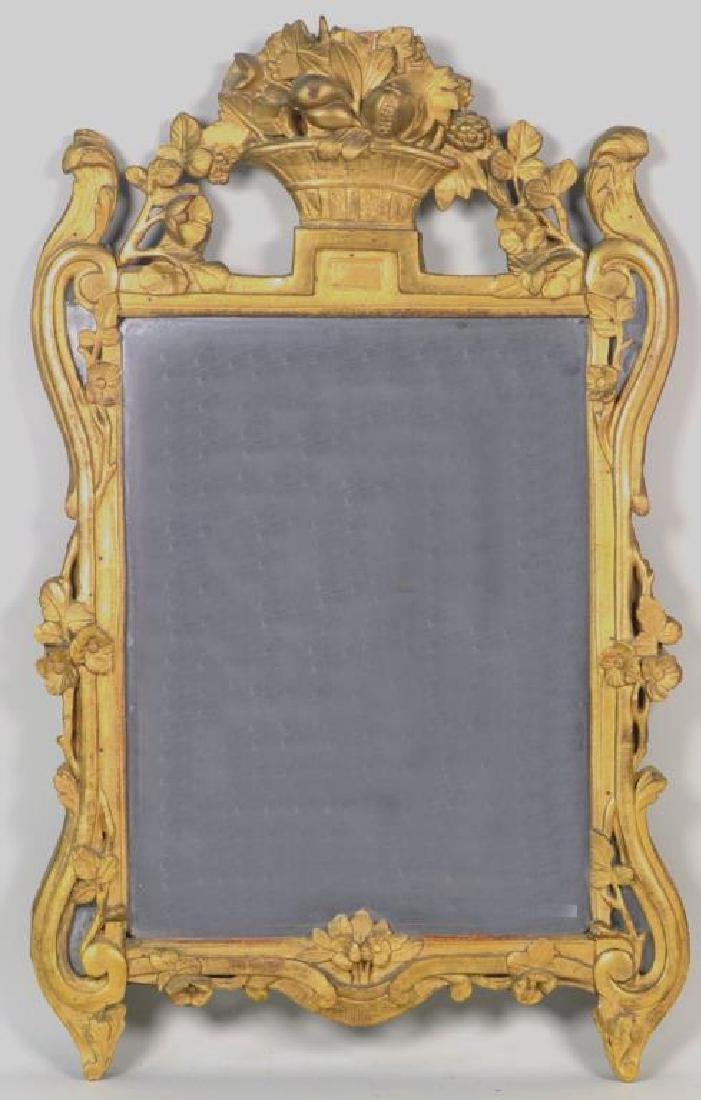 Louis XV Carved Giltwood Mirror