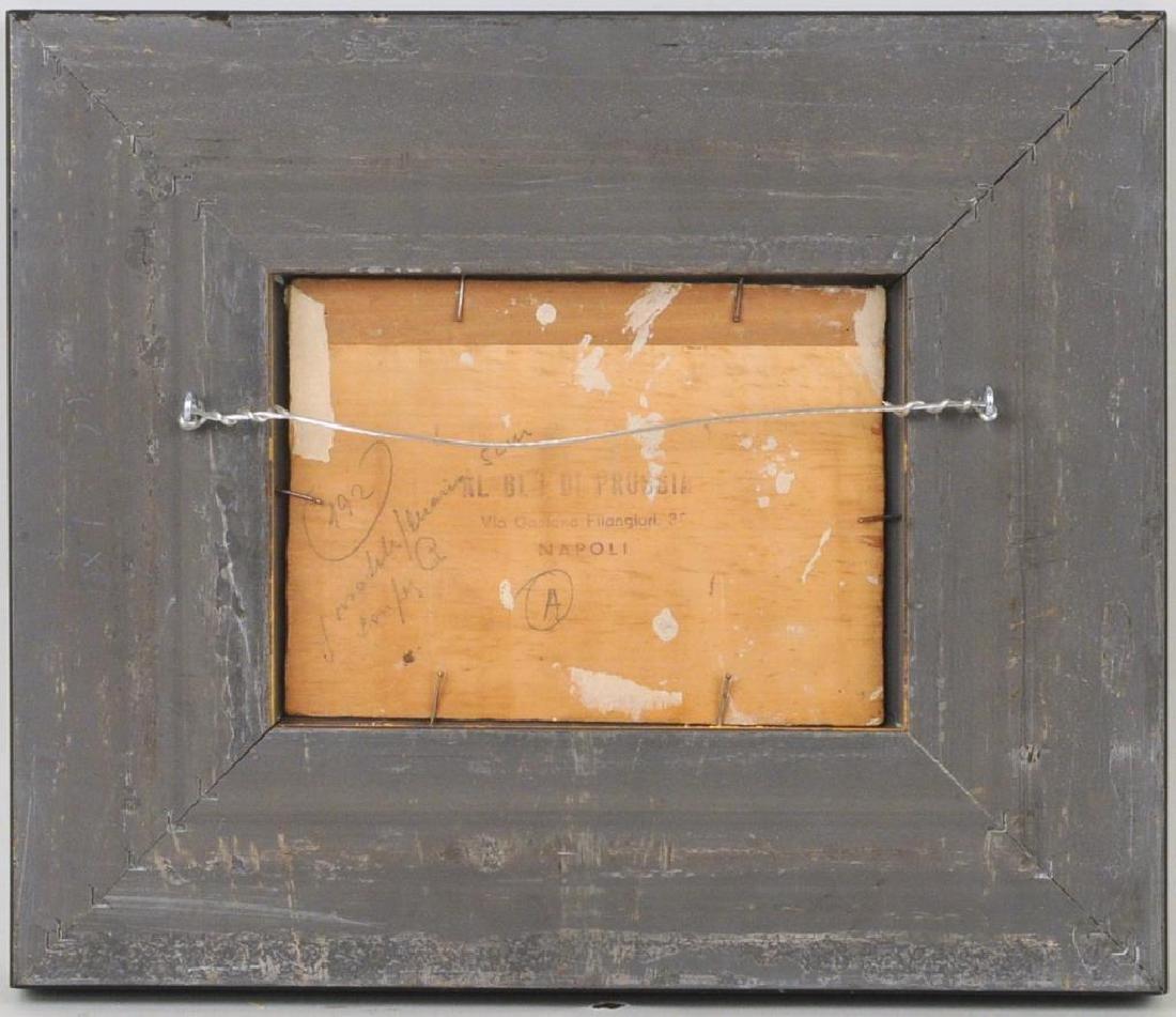 "Raffaele Lippi, ""Town Interior"" Oil On Panel - 2"