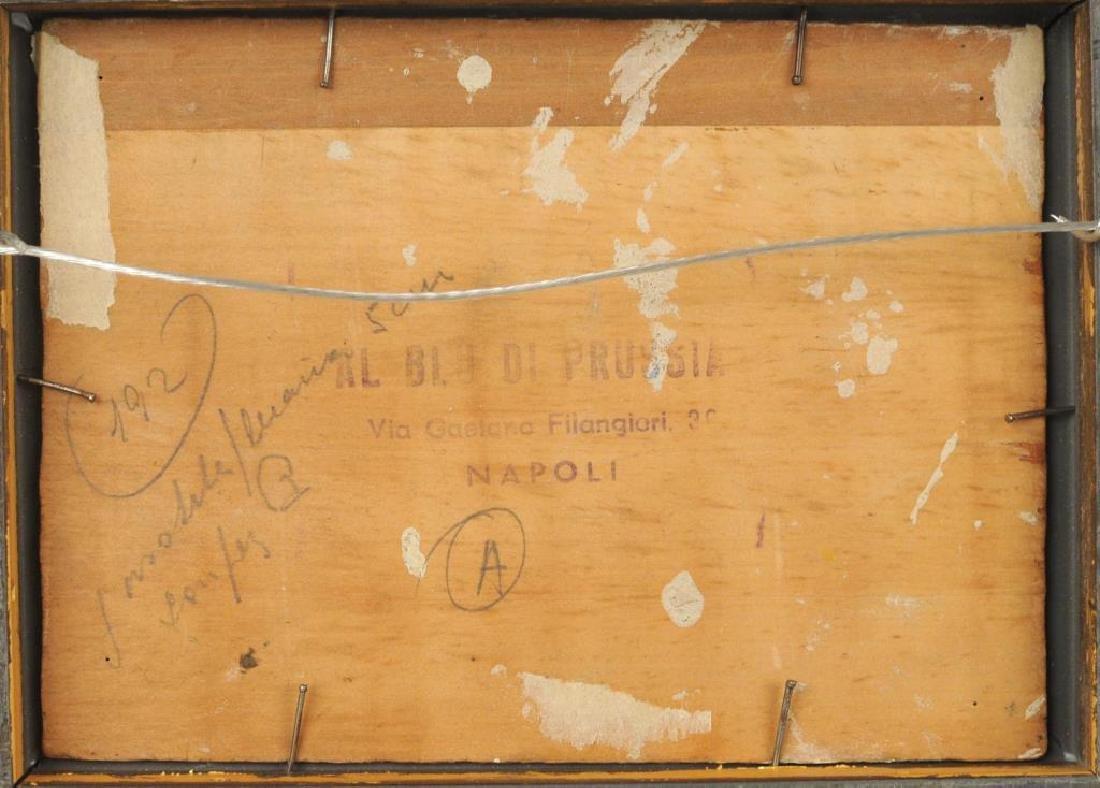 "Raffaele Lippi, ""Town Interior"" Oil On Panel - 4"