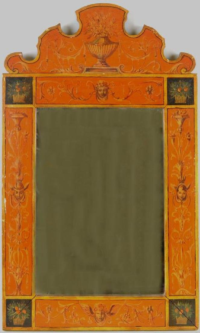 Pair Neoclassical Style Painted Mirrors - 4